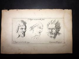 Sayer 1757 Print. Anger Mixt with Fear, Rage. Extreme Dispair 60